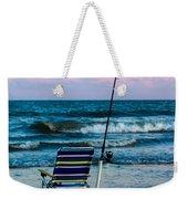 Fishing On The Beach Weekender Tote Bag