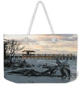 Fishing Pier And Driftwood Weekender Tote Bag