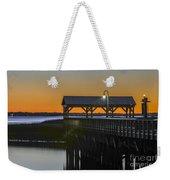 Fishing Pier At Dusk Weekender Tote Bag