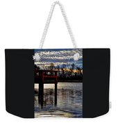 Fishing Pier Sunset  Weekender Tote Bag