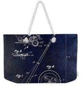 Fishing Reel Patent 1939 Blue Weekender Tote Bag
