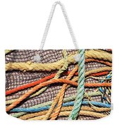 Fishing Ropes And Net Weekender Tote Bag