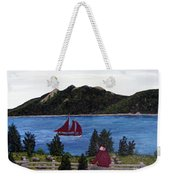 Fishing Schooner Weekender Tote Bag
