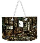 Fishing Shack Posterized Weekender Tote Bag