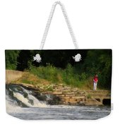 Fishing The Spillway Weekender Tote Bag
