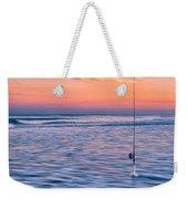 Fishing The Sunset Surf - Vertical Version Weekender Tote Bag