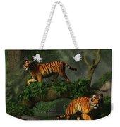 Fishing Tigers Weekender Tote Bag