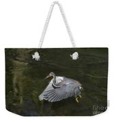 Fishing Tri Colored Heron Weekender Tote Bag