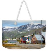Fishing Village In Iceland Weekender Tote Bag
