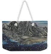 Fishing Village In  Winter Weekender Tote Bag