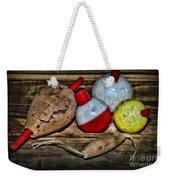 Fishing - Vintage Fish Bobbers Weekender Tote Bag
