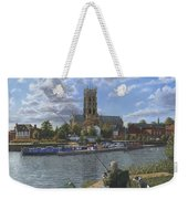Fishing With Oscar - Doncaster Minster Weekender Tote Bag