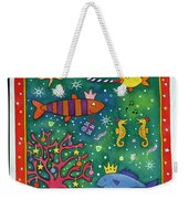 Fishy Christmas, 1997 Wc And Pastel On Paper Weekender Tote Bag