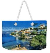 Fiskardo Beach In Kefallonia Island Weekender Tote Bag