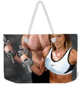 Fitness Couple 17-2 Weekender Tote Bag