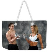 Fitness Couple 9 Weekender Tote Bag