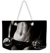 Fitness Motivation Weekender Tote Bag