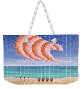Five Beach Umbrellas Weekender Tote Bag