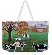 Five Black And White Cows Weekender Tote Bag