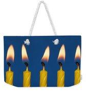 Five Candles Burning Weekender Tote Bag