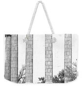 Five Columns Sketchy Weekender Tote Bag