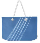 Five F-16 Fighting Falcons Reaching For Some Sky Weekender Tote Bag