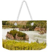 Five Finger Rapids Of Yukon River Yukon T Canada Weekender Tote Bag