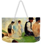 Five Male Figures Possible Preparatory Sketch For The ''bathers At Asnieres.'' Weekender Tote Bag