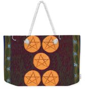 Five Of Pentacles Weekender Tote Bag