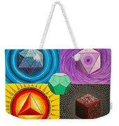 Five Platonic Solids - Fire Weekender Tote Bag