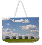 Five Sheds On The Alberta Prairie Weekender Tote Bag