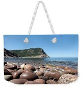 five steps to paradise - Giant pebbles is Menorca north shore close to Cala Pilar beach Weekender Tote Bag