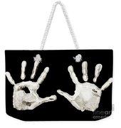 Five Years Old - Creative - Hands - First Painting Weekender Tote Bag