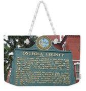 Fl-f304 Osceola County Weekender Tote Bag