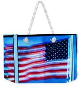 Flag Abstract Reflection Weekender Tote Bag