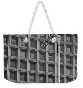 Flag And Windows In Black And White Weekender Tote Bag
