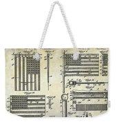 1927 Flag Spreader Patent Drawing Weekender Tote Bag