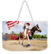 Flag Lady Weekender Tote Bag