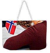 Flag Of Norway In Girls' Braided Hair Art Prints Weekender Tote Bag