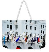 Flags At The Greenbrier Weekender Tote Bag