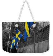 Flags Of Sweden Weekender Tote Bag