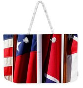 Flags Of The North And South Weekender Tote Bag by Joe Kozlowski
