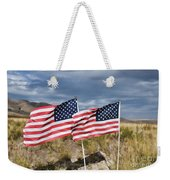 Flags On Antelope Island Weekender Tote Bag