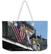 Flags On Bourbon Street Weekender Tote Bag