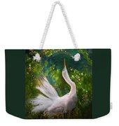 Flamboyant Egret Weekender Tote Bag by Melinda Hughes-Berland