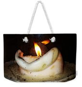 Flame Candle Art Weekender Tote Bag