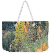 Flame Colored Fall.  Weekender Tote Bag