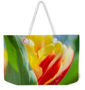 Flame Leaf Tulip Weekender Tote Bag