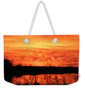 Flamed Sunset Weekender Tote Bag