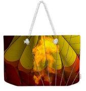 Flames Heating Up Hot Air Balloon Weekender Tote Bag
